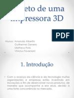 Projeto de Uma Impressora 3D