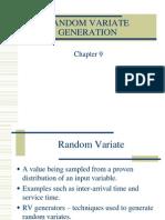 Chapter 8 Random Variate Generation