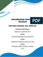 TRABAJO MONOGRAFICO Historia General Del Derecho