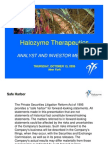 Halozyme Therapeutics, Inc. 2009 Investor Day Presentation