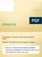 Kinematics of Machinery Introduction