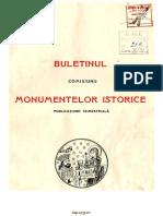Buletinul Comisiunii Monumentelor Istorice 1942 Anul XXXV
