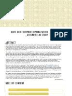 Umts Dch Footprint Optimization