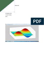 Matlab Code for 3d Sinusoidal Plot