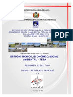 Enlace Opcional #10 Estudios Técnicos de Ingeniería Económicos y Socio Ambientales (TESA) - Resumen
