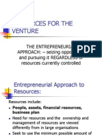 Resources for the Venture