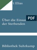 Norbert Elias-Uber Die Einsamkeit Des Sterbenden (Band 772 Der Bibliothek Suhrkamp) (1982)