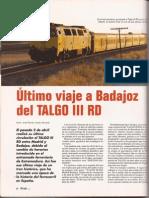44 - Revista Trenmanía, Agosto 2005, Nº27 - Último Viaje a Badajoz del Talgo IIIRD