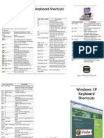 Windows XP Keyboard Shortcuts Trifold