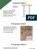 A Imigração Italiana