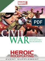 Marvel Heroic RPG Civil War Young Avengers/Runaways