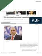 07-12-14 PRI Deslinda a Federación y Responsabiliza Al PRD