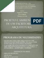Projeto e Ambientação de Um Escritorio de Arquitetura-sa Lgado Azevedo e Collado