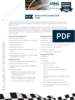 Workshops Reliability Courses