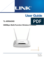 Tl-wr842nd v2 User Guide