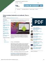 Cómo Instalar Android en El Netbook, Paso a Paso