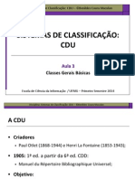 Classes Básicas da CDU