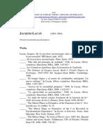 Lacan. Bibliography