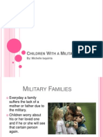 children with a military parent