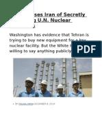 U.S. Accuses Iran of Secretly Breaching U.N. Nuclear Sanctions