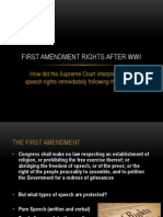 first amendment rights after wwi