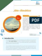 Secuencia didactica Cambio Climatico