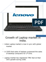 Growth of Laptop Market in India.