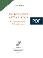 Marias Julian - Antropologia Metafisica