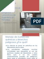 Introducción Al Manejo de Sustancias Químicas y Desechos