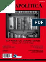 Metapolítica Max Weber y Las Ciencias Sociales