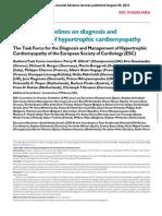 Guias Miocardiopatia Hipertrófica 2014 Esc