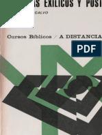 PEREZ CALVO, J. - Profetas exilicos y postexilicos - CBaD 9 - PPC, 1971.pdf