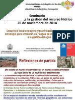 Presentacion Gestion Recurso Hidrico - Jaime Valdes