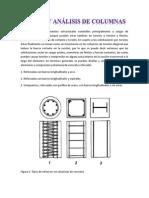 Presentar Diseño y Análisis de Columnas