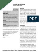 Molecular Genetics of Mitral Valve Prolapse