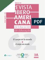 Educación Del Cuerpo y... de La Formación Superior Al Patio Escolar (Revista Iberoamericana)