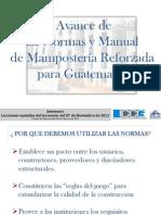 Avance de Las Normas y Manual de Mamposteria Guatemala