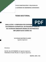 SIMULACION Y COMPROBACION EXPERIMENTAL DE LA ESCORRENTIA SUPERFICIAL EN PEQUEÑAS CUENCAS NO AFORADAS.pdf