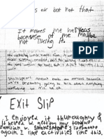 note cards exit slip