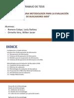 tesis :DEFINICIÓN DE UNA METODOLOGÍA PARA LA EVALUACIÓN DE BUSCADORES WEB