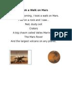 i took a walk on mars