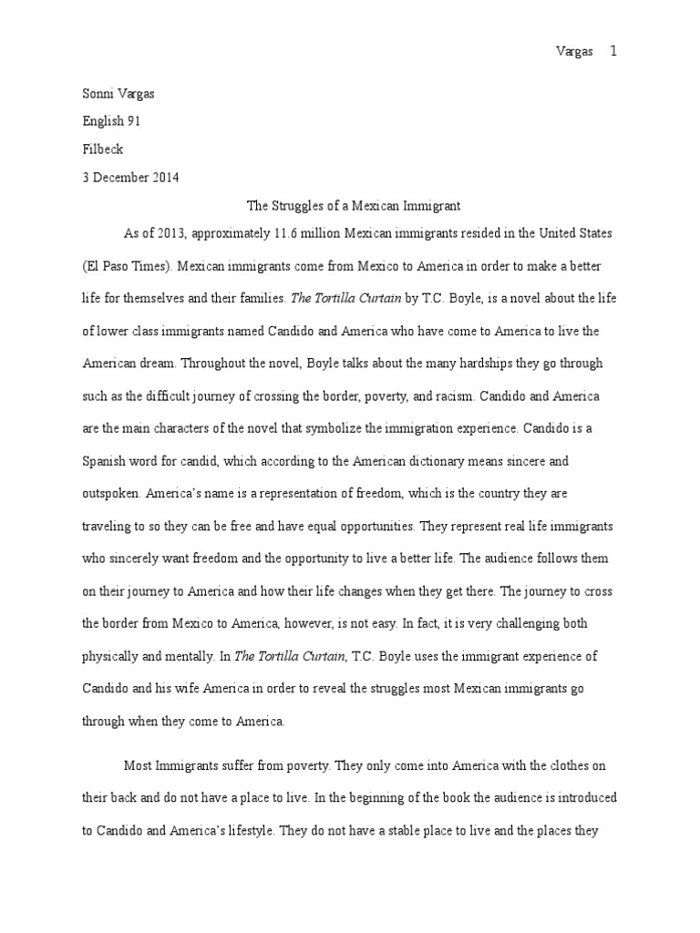immigrant experience in america essay