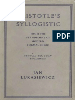 ARISTOTLES SYLOGISTIC Jan Łukasiewicz