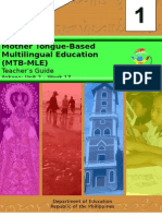 Mother Tongue-Based Multilingual Education (MTB-MLE)