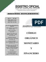 Código Orgánico Monetario y Financiero