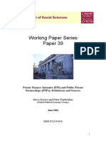 Working Paper on Public-Private Partnerships