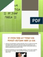 Evangelium Vitae Capítulo II de Juan Pablo II
