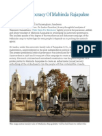 Pseudo Democracy of Mahinda Rajapakse
