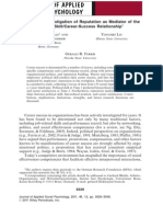 A Predictive Investigation of Reputation as Mediator of The