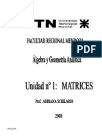UTN - Álgebra y Geometría Analítica